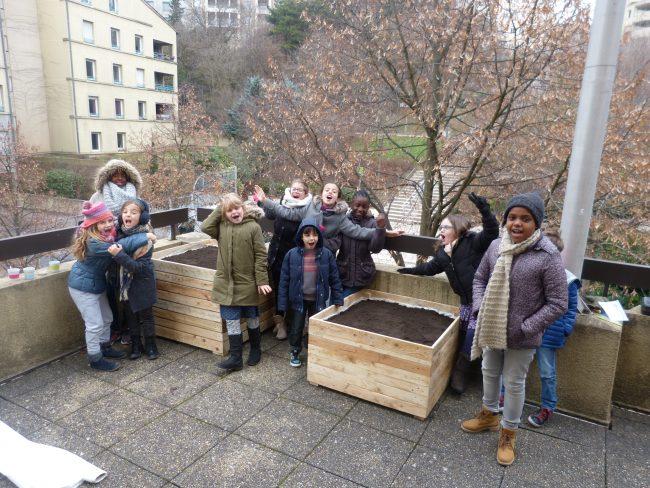 Installation compost et bacs à jardin